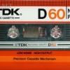 TDK D 60 US Eu 1982