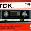 TDK D 90 Eu 1985-86
