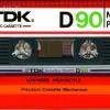 TDK D 90 US Eu 1982-84