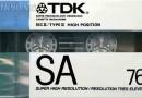 TDK SA 76 US 1988