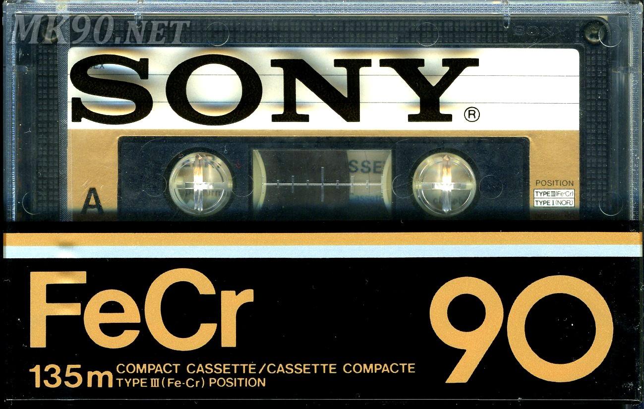 Аудиокассета Sony FeCr 90 Type III