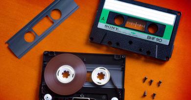 Вскрытие аудиокассеты Sony BHF 90 родом из 1980-х