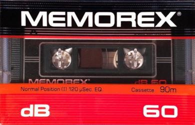 Аудиокассета Memorex DB 60 1983-86 Eu