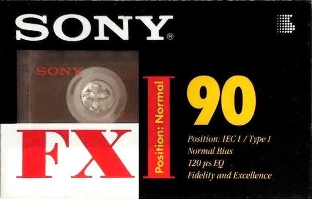 Аудиокассета Sony FXI 90 1995 Eu