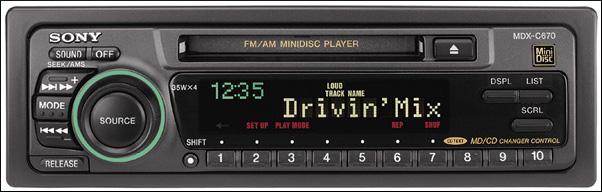 Автомобильный стереомагнитофон Sony MDX-C670 MiniDisc.