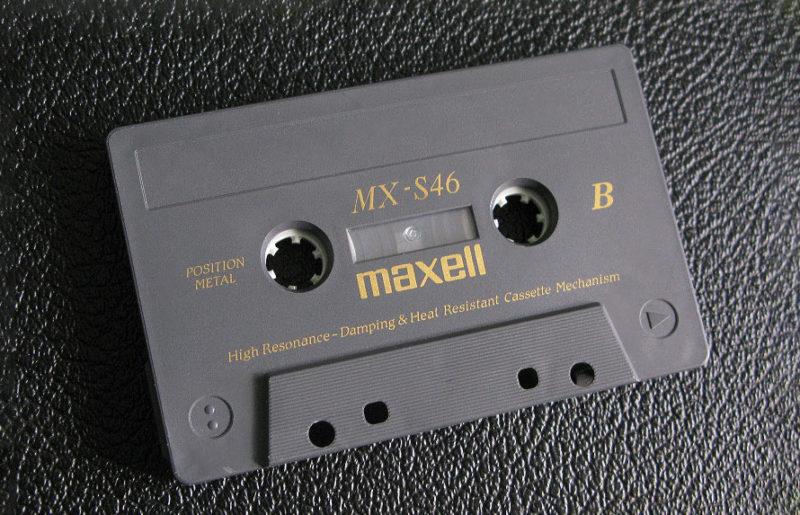 Впечатляющая Maxell MX-S 46 выпущенная на закате эпохи аудиокассет
